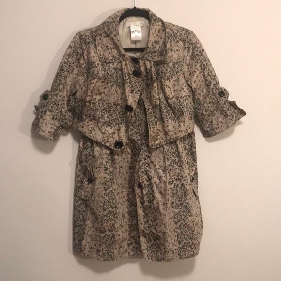 Chloe trench silk raincoat sz 36